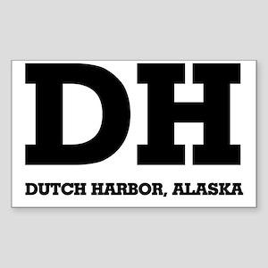 Dutch Harbor, Alaska Rectangle Sticker