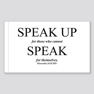 Speak Up Rectangle Sticker