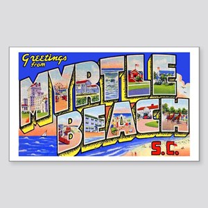 Myrtle Beach South Carolina Rectangle Sticker