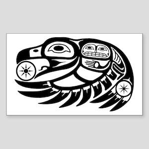 Native American Raven Sun Sticker (Rectangle)