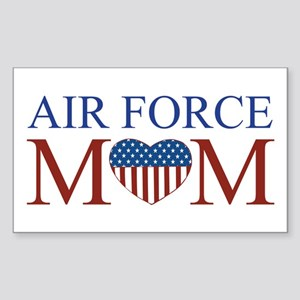 Patriotic Air Force Mom Rectangle Sticker