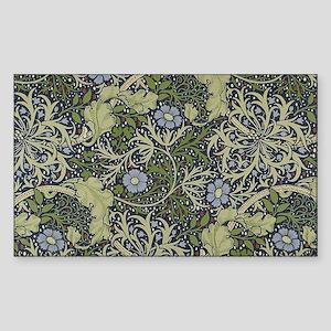William Morris Seaweed Sticker (Rectangle)