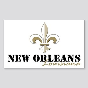 New Orleans Louisiana gold Sticker (Rectangle)