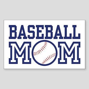 Baseball Mom Rectangle Sticker