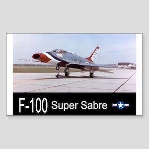 F-100 Super Sabre Fighter Rectangle Sticker