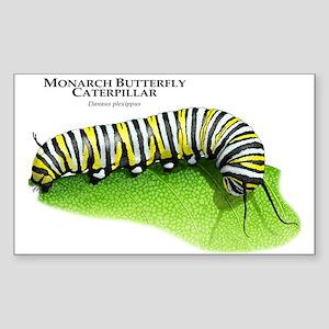 Monarch Butterfly Caterpillar Rectangle Sticker