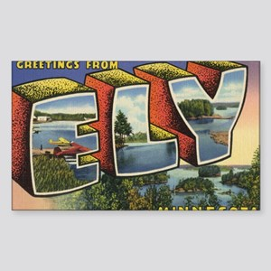 Ely_PrintFramed Sticker (Rectangle)