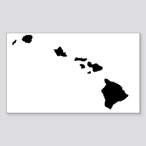 Hawaiian Islands Sticker (Rectangle)
