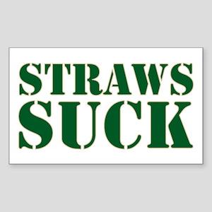 Straws Suck Sticker (Rectangle)