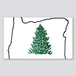 Tree in Oregon Sticker (Rectangle)