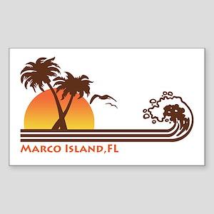 Marco Island FL Sticker (Rectangle)