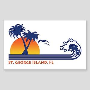 St. George Island FL Sticker (Rectangle)