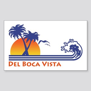 Del Boca Vista Rectangle Sticker