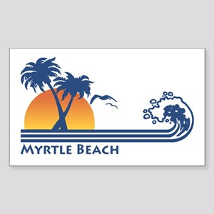Myrtle Beach Rectangle Sticker