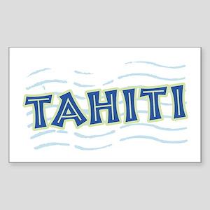 Tahiti Rectangle Sticker