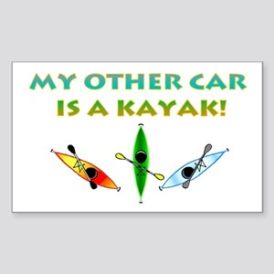 My Other Car Is a Kayak Sticker (Rectangle)