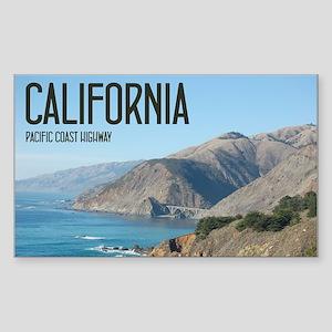California Pacific Coast Highw Sticker (Rectangle)