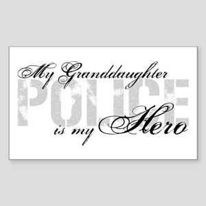 My Granddaughter is My Hero - POLICE Sticker (Rect
