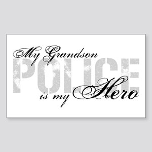 My Grandson is My Hero - POLICE Sticker (Rectangle