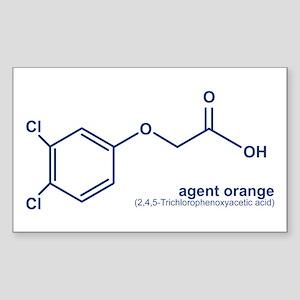 Agent Orange Rectangle Sticker