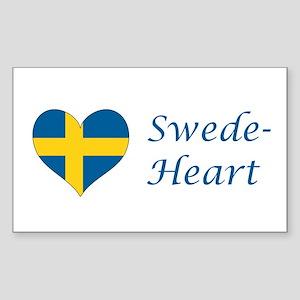 Swede-Heart Sticker (Rectangle)