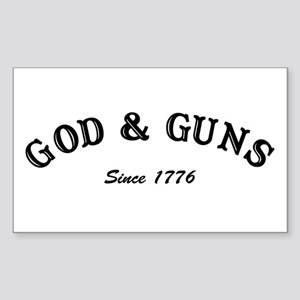 God and Guns Rectangle Sticker