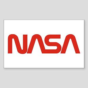 NASA Snake (worm) Sticker (Rectangle)