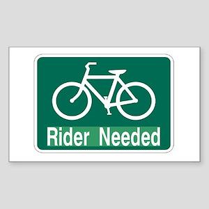 rider needed Sticker (Rectangle)
