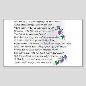 Sonnet 116 Sticker (Rectangle)