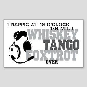 Aviation Humor Sticker (Rectangle)