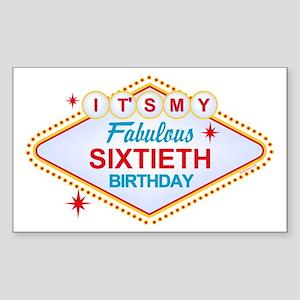 Las Vegas Birthday 60 Sticker (Rectangle)