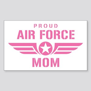 Proud Air Force Mom W [pink] Sticker (Rectangle)