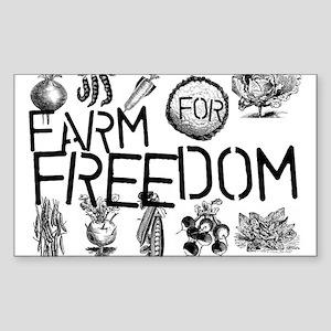 Farm for Freedom Sticker (Rectangle)