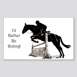 I'd Rather Be Riding Horse Sticker (Rectangle)