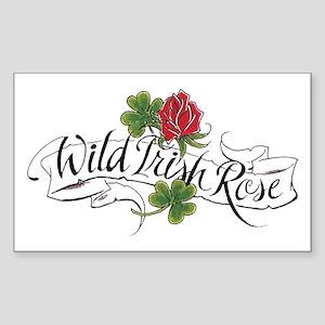 Wild Irish Rose Rectangle Sticker