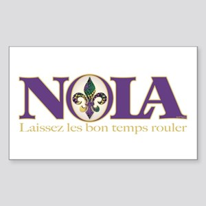 NOLA Mardi Gras Rectangle Sticker