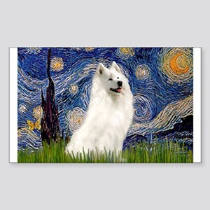 Starry / Samoyed Sticker (Rectangle)