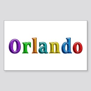 Orlando Shiny Colors Rectangle Sticker