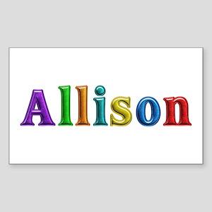 Allison Shiny Colors Rectangle Sticker