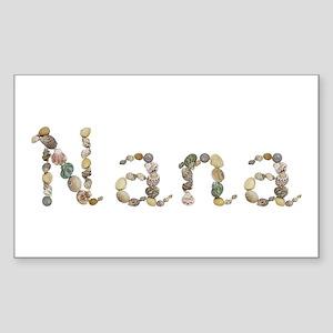 Nana Seashells Rectangle Sticker