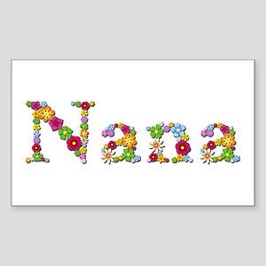 Nana Bright Flowers Rectangle Sticker