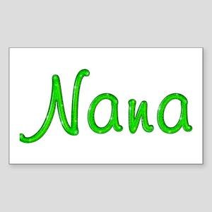 Nana Glitter Gel Rectangle Sticker