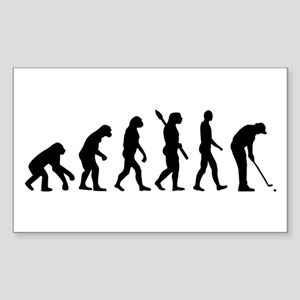 Golf evolution Sticker (Rectangle)