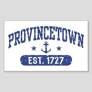 Provincetown Est. 1727 Sticker (Rectangle)