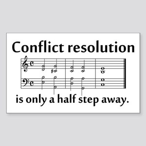 """Conflict Resolution"" Rectangle Sticker"