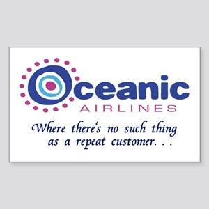 'Oceanic Airlines' Sticker (Rectangle)