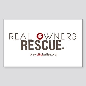 Real Owners Rescue Sticker (Rectangle)