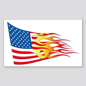 Hot Rod Flag Rectangle Sticker