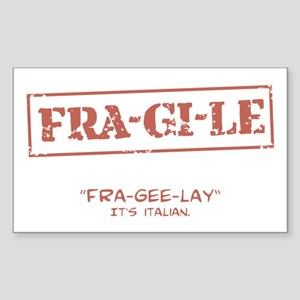 FRA-GI-LE [A Christmas Story] Sticker (Rectangle)