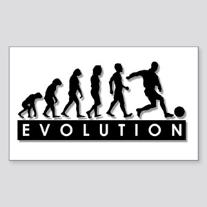 Evolution of a Soccer Player Sticker (Rectangle)